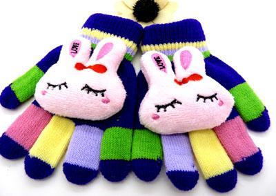冬季全指时尚超可爱针织卡通手套(儿童)