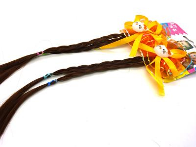 小孩儿童假发手工辫子名族风可爱发夹发饰 假发辫子发卡头饰辫子 小孩