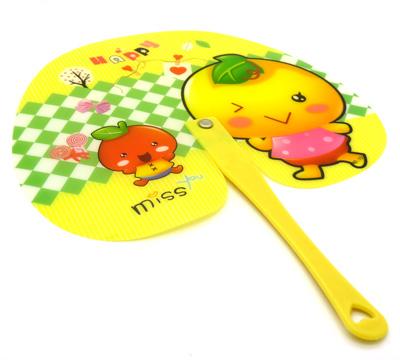苹果扇 夏季清凉桃心扇子 环保铆钉扇子 熊宝宝卡通扇