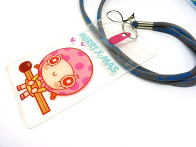 可爱卡通儿童软绳挂绳 胸卡 学生证公交卡套 挂脖证件