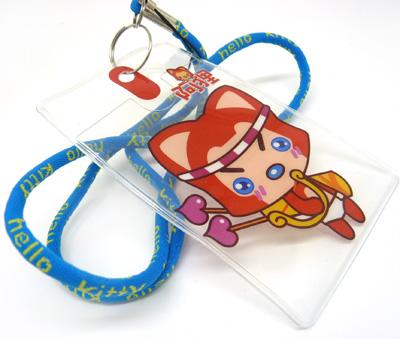可爱卡通儿童软绳挂绳 胸卡 学生证公交卡.