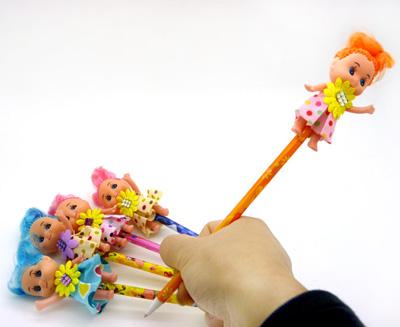 芭比娃娃圆珠笔 创意礼品笔 可爱卡通娃娃笔 韩国创意
