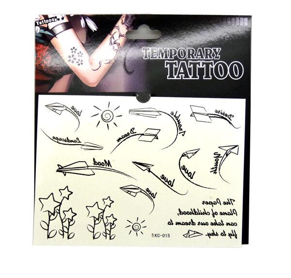 防水纹身贴纸 男女款 潮流字母 元素花纹.