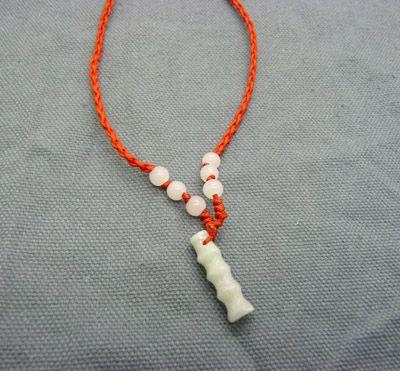 红绳项链绳加玉石 挂吊坠绳子自由拉伸百搭
