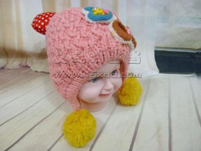 宝宝帽子韩国婴儿毛线帽子男孩帽子
