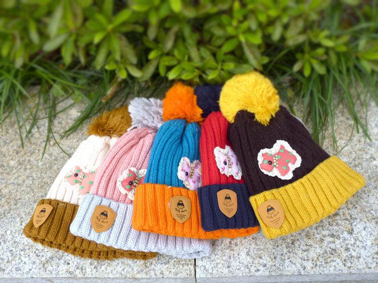 儿童帽子男女童 秋冬 婴儿帽子围巾套装 宝宝冬天帽子