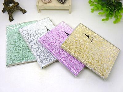 2081韩国文具 可爱小清新 糖果色胶套埃菲尔铁塔 笔记本 -64k胶套本