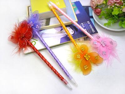 韩国创意文具批发办公圆珠笔礼品玫瑰花可爱中小学生奖品礼物油笔 c1