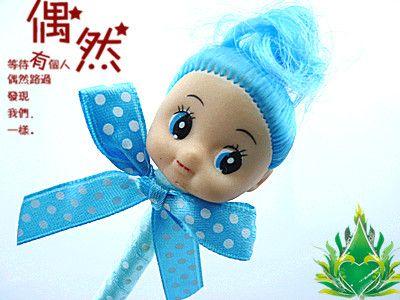 韩国畅销文具卡通可爱娃娃头笔