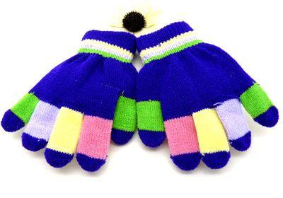 冬天必备五指保暖手套彩色快乐卡通流行儿童手套图片