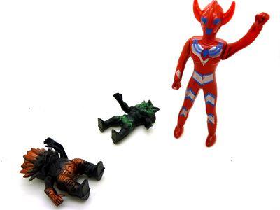 奥特曼玩具套装 迪迦奥特曼大战怪兽