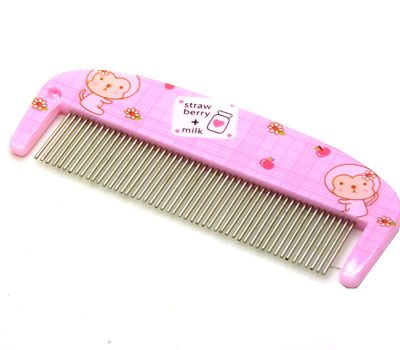 卡通可爱梳子 防静电梳子 铁齿梳子 化妆梳 便携卡通梳----0213铁齿