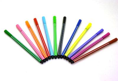 【开学新品】圆筒包装阿狸12色绘画水彩笔 儿童画画笔文具----圆筒装