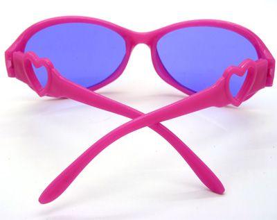 爱心卡通男女儿童太阳眼镜防紫外线遮阳镜小孩潮宝宝墨镜糖果色-12009