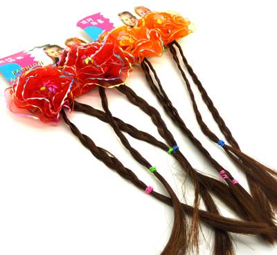 小孩儿童假发 手工辫子名族可爱发夹发饰 辫子假发