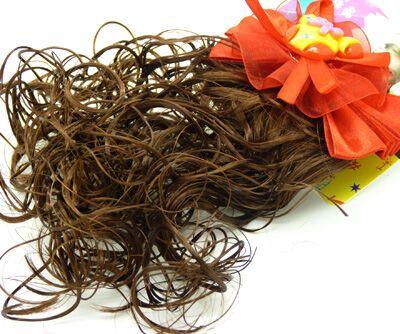 风靡韩国烫发头花发夹假发 小孩儿童可爱发饰 蝴蝶结假发