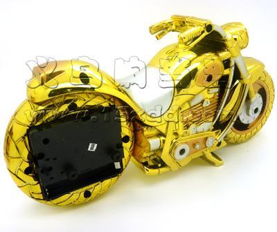 儿童卧室创意时尚摩托车造型钟表
