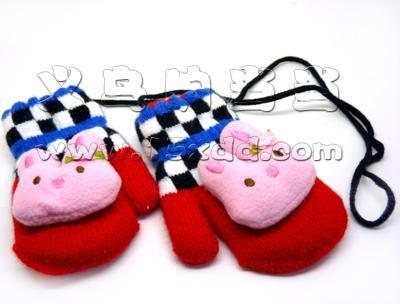 手工编织小动物拖鞋图案