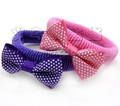 蝴蝶结发饰时尚清新头饰 小蝴蝶结可爱点点发圈发绳头饰