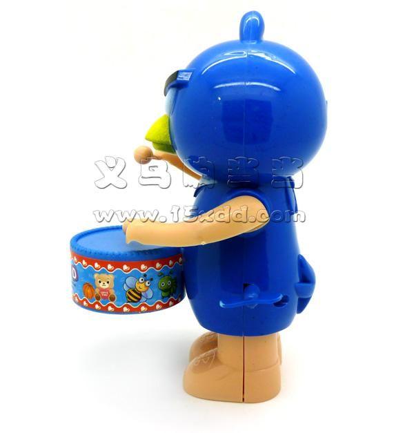 儿童上链玩具 动物卡通熊大打鼓敲鼓 大号上劲打鼓愤怒的小鸟 -熊打
