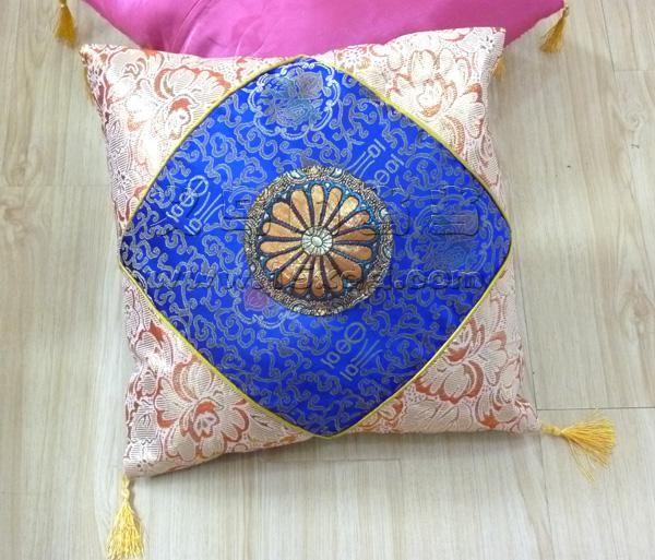 唯美古典英伦清新花纹纯棉沙发靠垫抱枕
