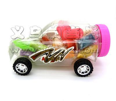 儿童卡通小汽车橡皮泥 儿童益智彩泥 汽车模型橡皮泥 -汽车橡皮泥6024