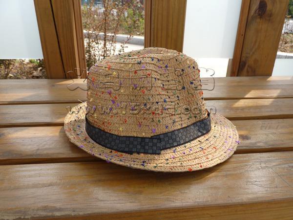 新款特价 韩国 男孩手工编织礼帽 儿童草帽亲子帽 小孩礼帽潮凉帽
