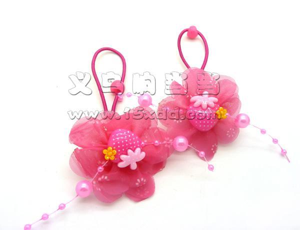 头绳宝宝发绳发圈皮筋卡通小熊蕾丝儿童对绳头花 美女爱心珍珠发饰