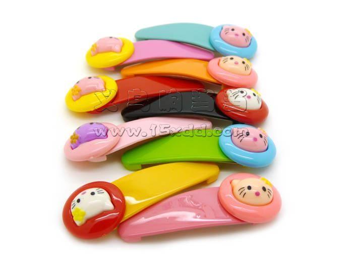 韩版儿童发夹发卡 发饰头饰 卡通猫咪发夹小孩发夹 -宝宝bb夹