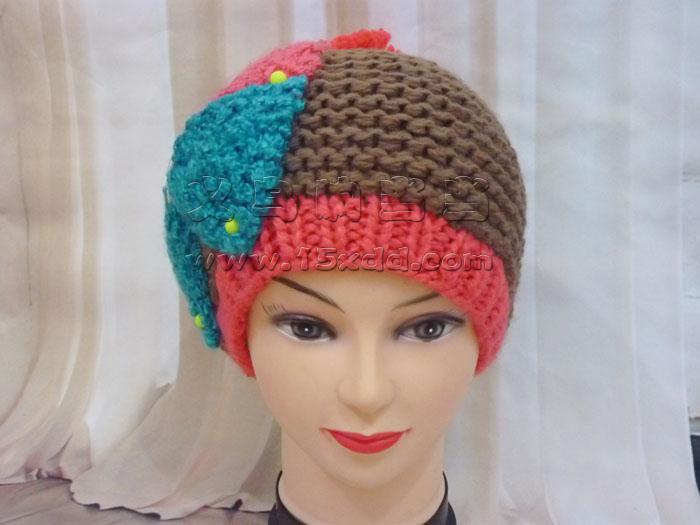 韩国秋冬季新款可爱蝴蝶结毛线帽子