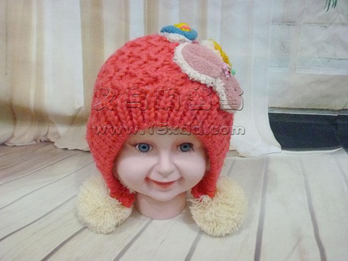 儿童帽子女秋冬新款宝宝帽子韩国婴儿毛线帽子男孩