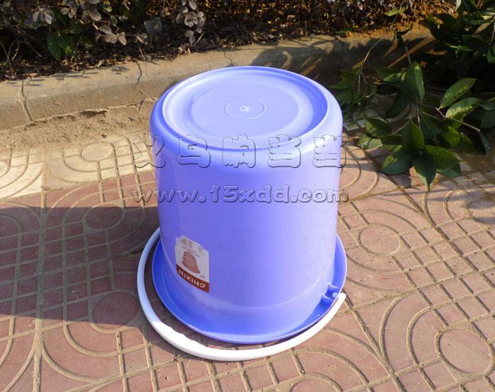 40l大号带盖加厚水桶 塑料圆塑料桶