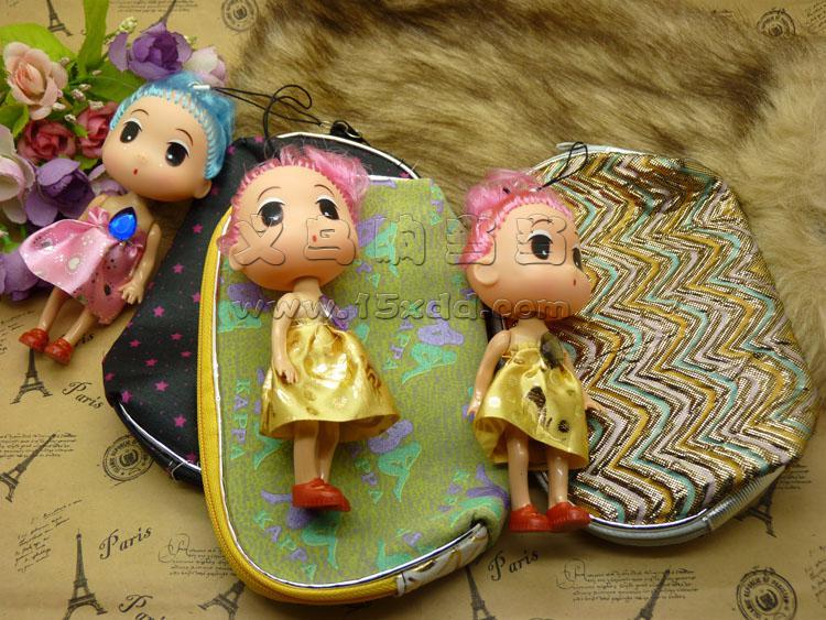 韩版实心双辩大头短脚迷糊芭比娃娃包包钥匙挂饰