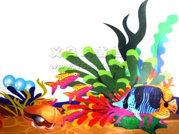 幼儿园手工墙饰:动物世界