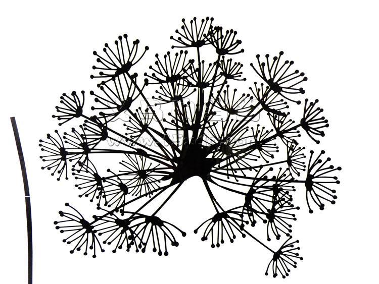 花束黑白矢量图