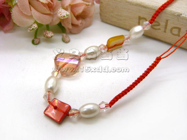 手工编织红绳玉器手链
