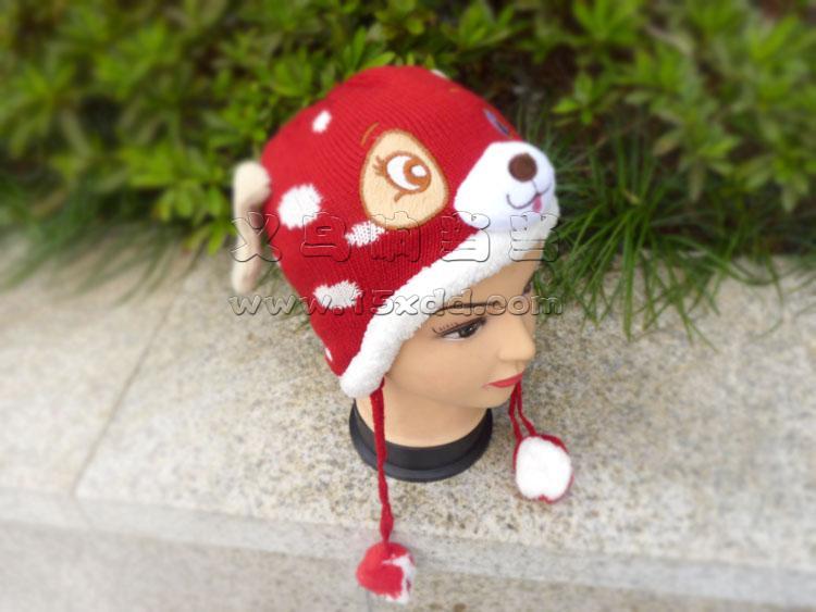 万圣节动物帽 酒吧游戏动物头饰 幼儿园动物表演帽 斑点狗哈巴狗