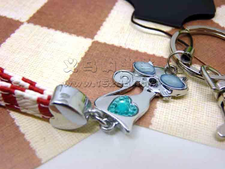 创意手工编织带钥匙扣/高档真皮汽车手工手编钥匙