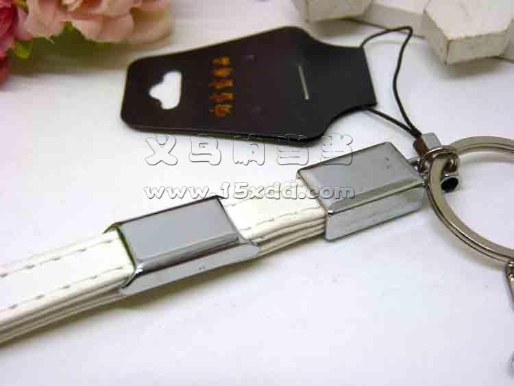 钥匙扣真皮编织钥匙挂件羊皮钥匙圈女男士汽车链
