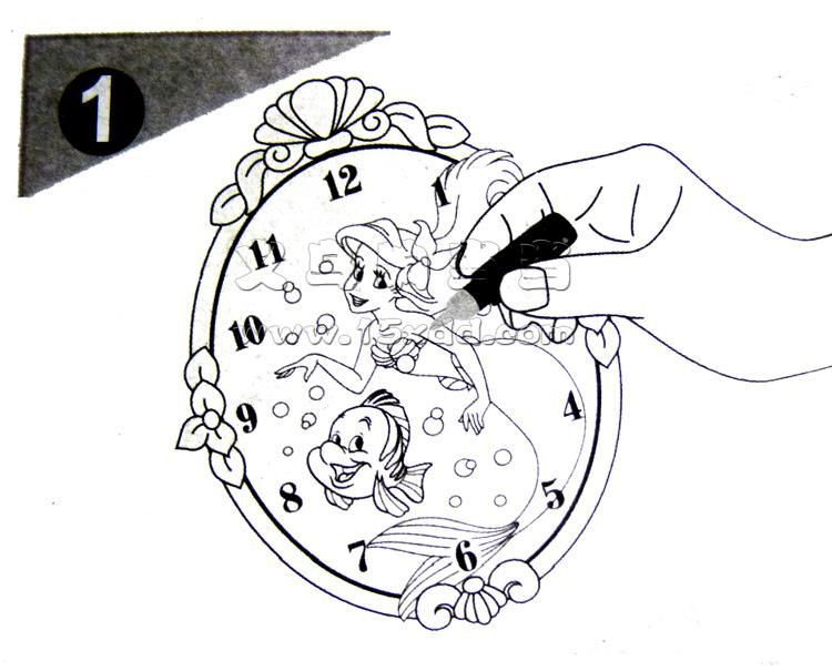 彩绘童年时光 diy时钟 儿童diy手工制作中国结挂件的详细介绍