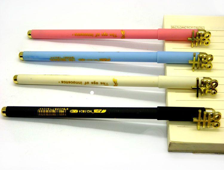 韩国文具 可爱人民币中性笔 创意水笔