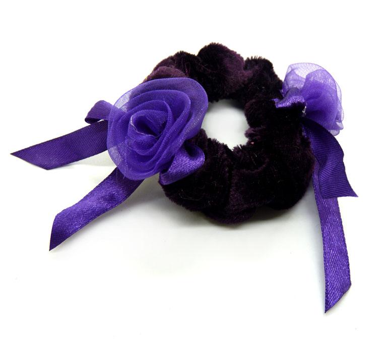 绒布花朵花环头饰
