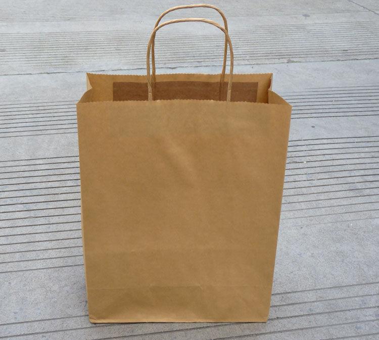 高43cm宽25cm牛皮纸袋 手提袋定制 广告服装袋 包装袋 通用礼品纸袋图片