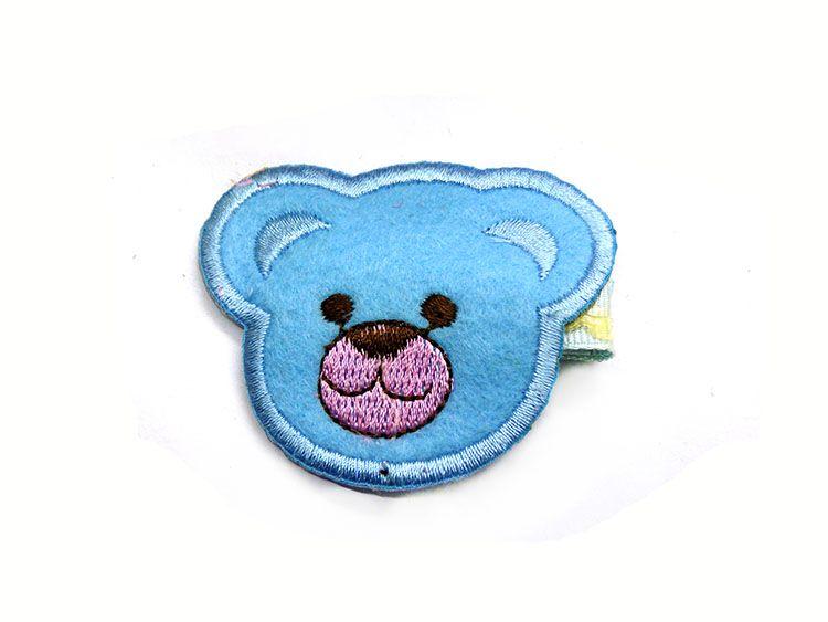 头饰手工布艺发夹可爱小熊儿童压夹卡通精品发卡b5-3