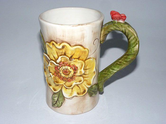 多款混搭特大号立体陶瓷彩绘马克杯(壶) 水杯 环保卡通杯a12-1-2