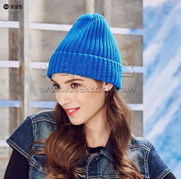 2015秋冬高圆圆同款杨幂同款范冰冰同款毛线帽男女羊绒针织帽子
